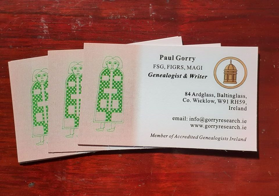 Paul Gorry Business cards