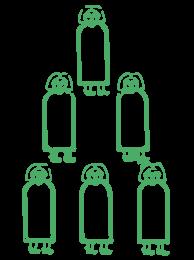 7 Men graphic for logo